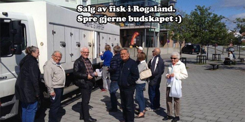 Fiskebilene våre kjem til Stavanger, Jæren og …